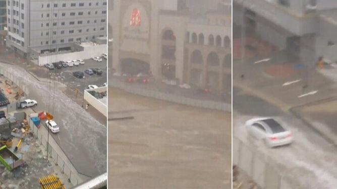Ulewa w Dubaju. Na drogach paraliż