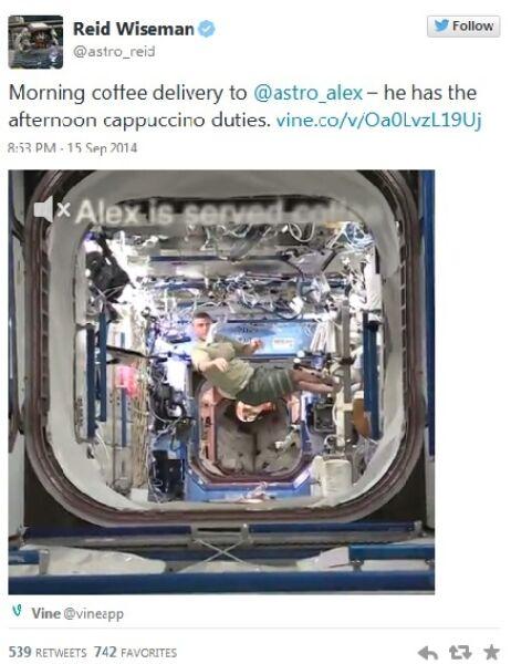 Twitt astronauty Reida Wisemana