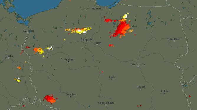 Grzmi na północy Polski