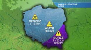 Warunki drogowe w czwartek 22.04